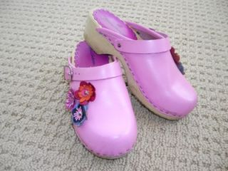 Girls Boutique Hanna Andersson Pink Corsage Clogs 34 Shoes 2Y BTS