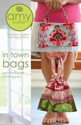 Amy Butler Smart Bag Drawstring Purse Pattern Sewing