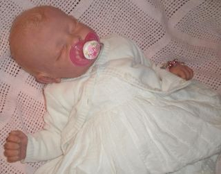Fake Baby Girl Laura Louise from Andi Kit with Tummy Plate