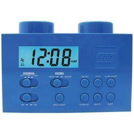 Digital Blue Lego LG11007 Blue Am FM Radio Digital Alarm Clock