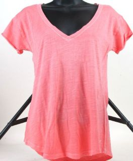 Womens American Eagle Garment Dyed V Neck Tee T Shirt Top Size Small