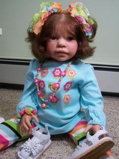 Beautiful Reborn Andreas Jannie de Lange Toddler Human Hair OOAK Must