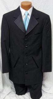 Mens Black Andrew Fezza Cannes Tuxedo Jacket All Sizes