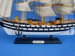 amerigo vespucci 20 model tall ship model boat new