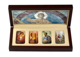 Niue 2012 2$ Andrei Rublev 4 x 1 oz Silver Coin Icon Set with Convex