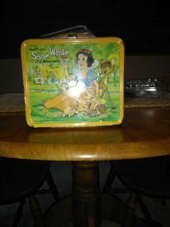 Vintage Disney Lunch Box Snow White & Dwarfs 1975 no thermes