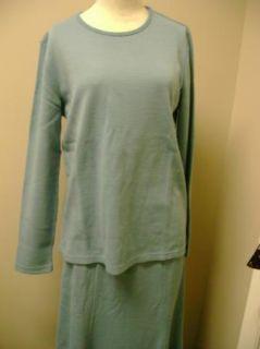 Nina Leonard Long Sleeve Top & Long Skirt with Stitch Detail NWT
