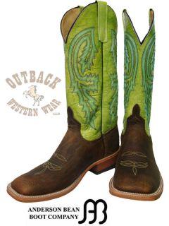 Anderson Bean Mens Brown Kiwi Cowboy Boots S1093