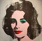 Elizabeth Taylor Screenprint on Canvas Andy Warhol Signed
