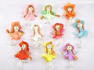 Mini Angel Wing Flower Hat Doll Appliques x10 Girl 593A
