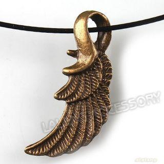 40 Antique Bronze Angel Wing Charms Alloy Pendants Wholesale 31x11x3mm