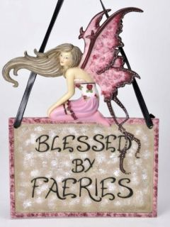 Amy Brown Blessed by Fairies Home Decorative Plaque New
