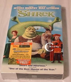 DreamWorks SHREK VHS Special Edition Bonus CD Home For The Holidays