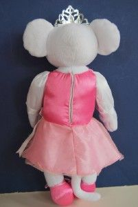 Angelina Ballerina Plush Talking Doll Toy Light Up Crown Tiara New