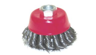 Cup Wire Brush 5 8 H D Twisted Wire Fits Most Angle Grinders