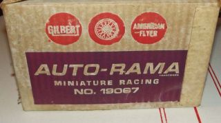 Gilbert American Flyer Auto Rama Miniature Racing Set Ford Hot Rod Car