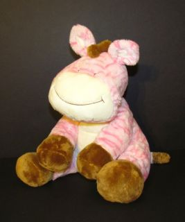 Animal Alley Pink white Striped Brown mane feet Stuffed Plush Toys R
