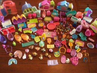Littlest Pet Shop LPS lot 12 animals playsets furniture x rays pieces