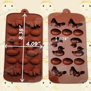 Animal Shape Silicone Chocolate Cake Jelly Muffin Cookie Tray Mold Pan