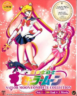 DVD Sailor Moon Complete Collection Vol 1 200 End 3 Movie