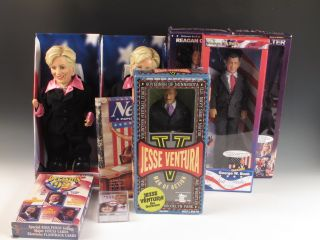 Collection Political Collectibles Dolls Action Figures Hillary Bill