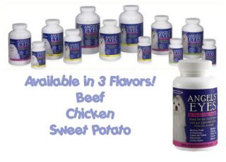 Angels Eyes Tear Stain Remover Chicken Beef or Sweet Potato 30 60 120