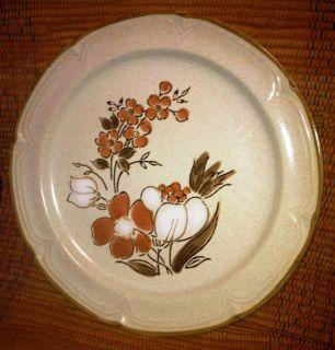 Hearthside Baroque Autumn Fair Vtg Dinner Plate Japan Stoneware Flower
