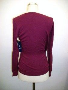 anne klein sport plum sweater size l