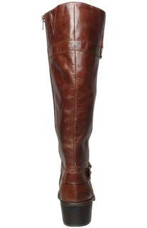 Anne Klein Womens Boots Edith Dark Brown Leather Sz 11 M