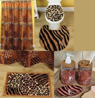 Zebra print safari animal printed hand towel african theme for Animal themed bathroom decor