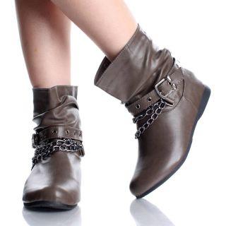 Flat Ankle Boots Steam Punk Rock Cowboy Fashion Womens Shoes Size 6