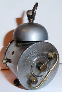 this listing is for a antique miniature ansonia bee alarm clock