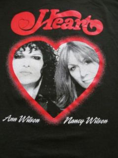Ann Nancy Wilson Heart World Tour Black T Shirt Graphic Design Concert