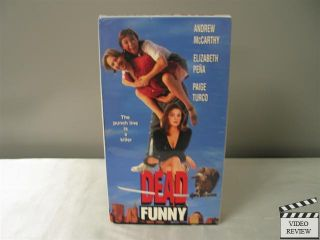 Dead Funny (VHS, 1998) Andrew McCarthy Elizabeth Pena Paige Turco
