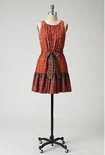 Anthropologie Anna Sui Fiery Tiers Dress Sz 0 RARE