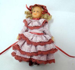 Anna Clark Victorian Style Handpainted Dollhouse Doll
