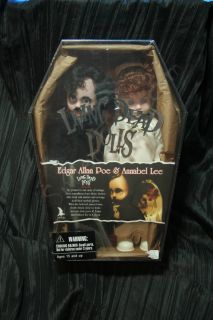 Living Dead Dolls Edgar Allan Poe and Annabel Lee Mezco Exclusive LDD