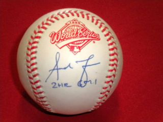 Andruw Jones Auto Signed World Series Baseball Braves