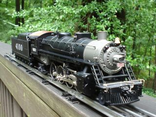 LIONEL TRAINS FRISCO MIKADO STEAM LOCOMOTIVE ENGINE SET W BRASS STEEL