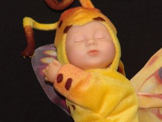 Anne Geddes Baby Doll Purple Yellow Tiger Swallow Butterfly Plush