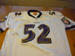 Ray Lewis Baltimore Ravens Short Sleeve Football Jersey Size Adult 3XL