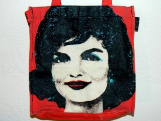 Pop Art Andy Warhol Jackie Kennedy Onassis Loop Handbag Tote Bag Purse