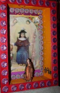 DR. BOB SHAFFER FOLK ART MARY SHADOW BOX CATHOLIC