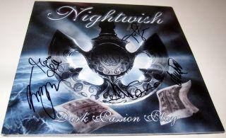 Dark Passion Play VINYL LP Anette Olzon Tuomas Emppu Autograph SIGNED