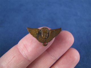 Nice Vintage Metal Angel Wings Pin Steampunk Art Deco
