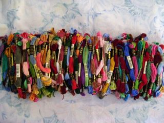 description this auction is for 170 skeins of embroidery floss in a