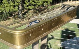 Solid Brass Fireplace Fender Antique Home Sweet Home