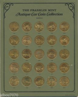 1968 Sunoco Franklin Mint Antique Car Coins Series 1