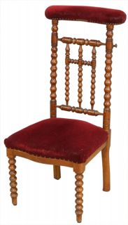 Antique French Prayer Chair or Prie Dieu Kneeler Chair Mahogany