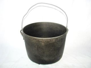 Antique Cast Iron Kettle Cowboy Camp Fire Bean Hang Pot